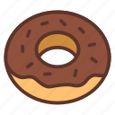 bakery, coffee, dessert, donut, food icon