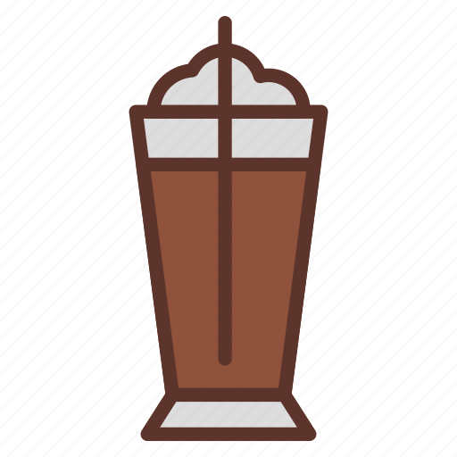 coffee, desert, drink, frappe, glass, ice icon