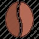 bean, caffeine, coffee, coffee bean, espresso icon