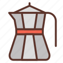 coffee, coffeemaker, espresso, ground coffee, natural, pot icon
