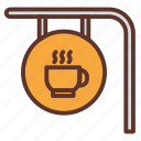 cafe, cafeteria, coffee, coffee bar, coffee bar sign, coffee shop icon