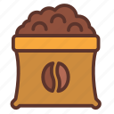 bag, coffee, coffee bean, espresso, roasting icon