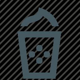 coffee, drink, drinking, latte macchiato icon