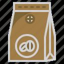 arabica, shop, coffee, bean, bag icon