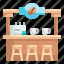 bar, coffee, counter, cafe, shop