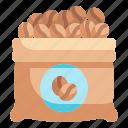 sack, coffee, beans, bag, seeds