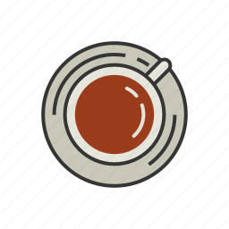 coaster, coffee, cup, latte, shop, top, view icon