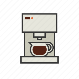 brew, coffee, machine, maker, pot, shop icon