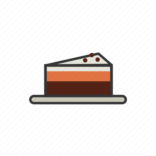 cake, cheesecake, chocolate, coffee, dessert, shop icon