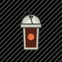 chocolate, coffee, frappuccino, mocha, shop, to go icon