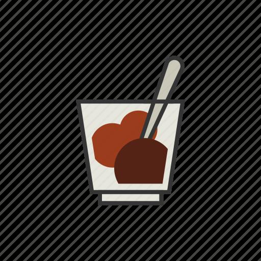 affogato, coffee, gelato, ice cream, shop icon