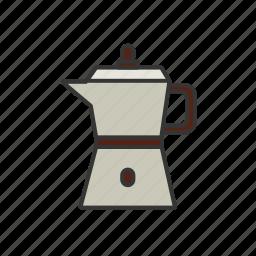 beans, brew, coffee, press, shop, steam icon