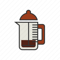 brew, coffee, espresso, press, shop icon