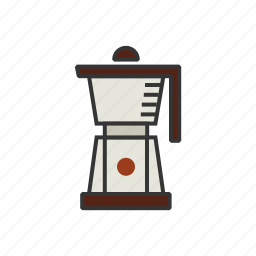 blender, coffee, frappuccino, measure, shop icon