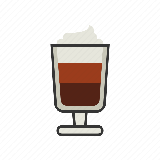 coffee, espresso, glass, mocha, shop, shot icon