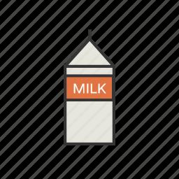 carton, coffee, milk, shop icon