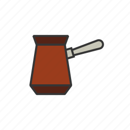 beans, coffee, grinder, press, shop icon