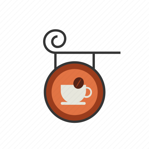 board, coffee, hanging, shop, sign, store icon
