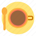 coffee, drink, shop, top, view icon