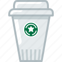 caffeine, coffee, cup, drink, fast food, plastic cup, yumminky icon