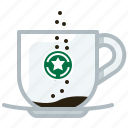 caffeine, coffee, cup, drink, glass, pouring icon