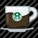 caffeine, coffee, cup, dark coffee, drink, glass, yumminky icon