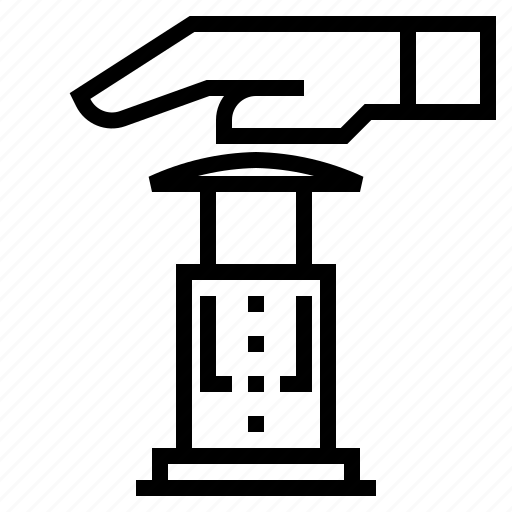 aero press, brew, coffee icon