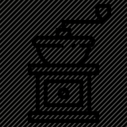 coffee, food, grinder, kitchen, kitchenware, machine, utensil icon