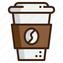 away, caffeine, coffee, cup, paper, shop, take icon