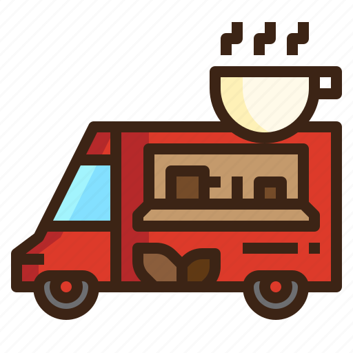 business, cafe, coffee, food, restaurant, street, truck icon
