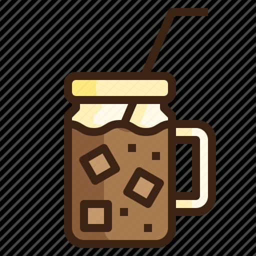 beverage, coffee, cold, drink, espresso, iced, refreshment icon