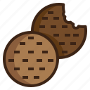 bake, biscuit, cookie, dessert, food, snack, sweet icon