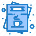 cafe, coffee, list, menu, order icon