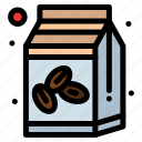 bean, bowl, box, coffee, sugar