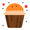 cake, cup, muffin, sweet