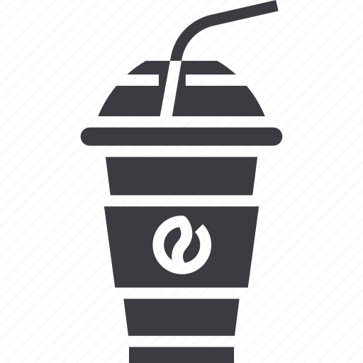 cafe, coffee, drink, ice, iced, plastic, takeaway icon