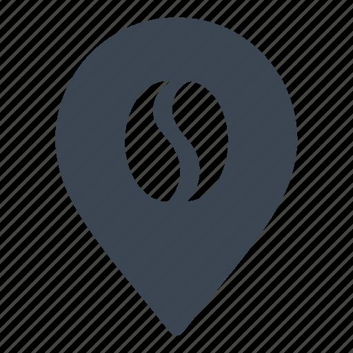 cafe, coffee, location, shop icon