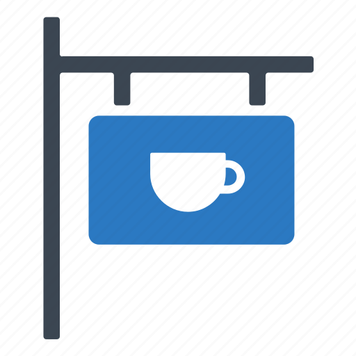 coffee, shop, signboard icon