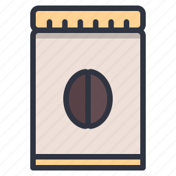 bag, bean, box, coffee, package icon