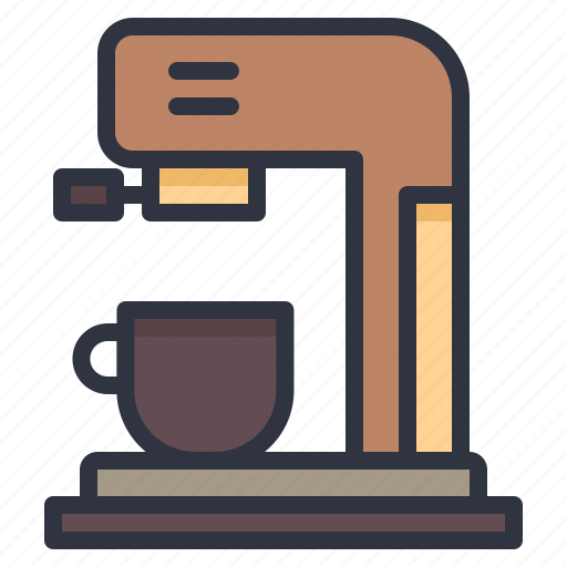 cafe, coffee, hot, machine, water icon
