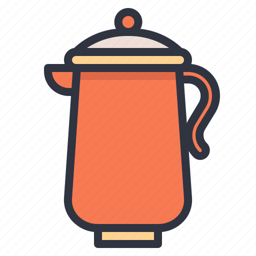 coffee, hot, pot, water icon
