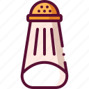 colored, salt, shaker icon