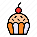 cake, cup, dessert, food, sweet icon