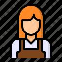 avatar, barista, coffee, girl, woman icon