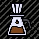 coffee, drink, drip, dripper, filter icon