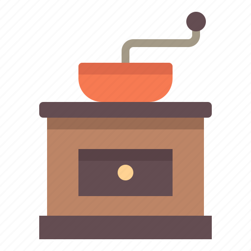 bean, cafe, coffee, grinder, tool icon