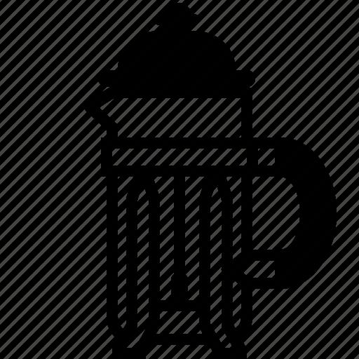 caffeine, coffee, coffeemaker, french press, percolator, presso, yumminky icon