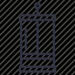 cafe, coffee, press, tool icon