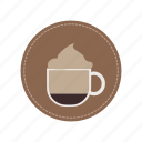 beverage, cafe, cappucino, coffee, cream, cup, milk icon