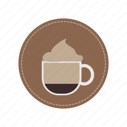 beverage, cafe, cappucino, coffee, cream, cup, milk icon